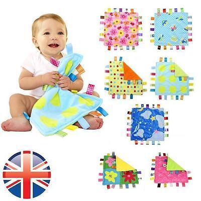 *UK Seller* Baby Taggy Comforter Security Blanket  Pink Flower Taggie