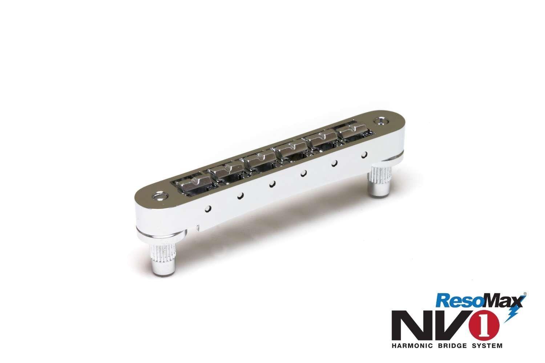 Graph Tech Resomax NV1 4mm Tune-o-matic bridge - Chrome - PM-8843-C0 NEW
