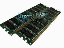 1GB 2X 512MB PC2700 DDR DIMM 184 pin Low Density Desktop Memory RAM