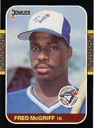 Details About 1987 Donruss Fred Mcgriff 621 Baseball Card