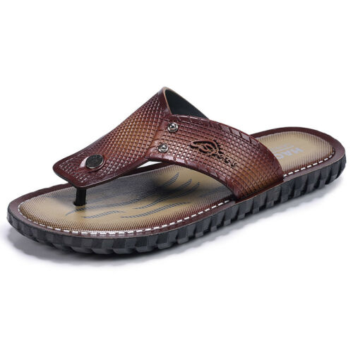 Fashion Mens Beach Flip Flops Slippers Sandals Outdoor Walking Shoes Travel Gift