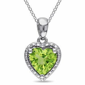 Amour-Sterling-Silver-Peridot-Heart-Necklace