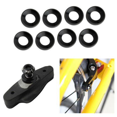 8x Alloy M5 Bicycle Disc Brake Bolts Spacer MTB Road Bike Washers Rings Black