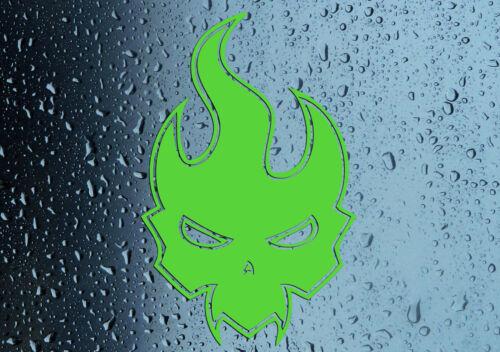 Car Wall Window Bathroom Bedroom Premium Grade Vinyl Evil Flame Sticker