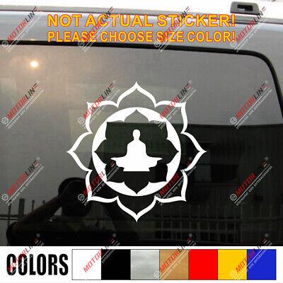 Lotus Om Yoga Symbol Car Decal Sticker Buddhism Buddha Vinyl pick size color