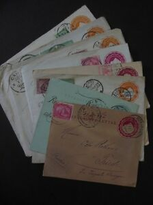 EGYPT-Scarce-group-of-10-Uprated-Envelopes-Nice-markings-amp-destinations
