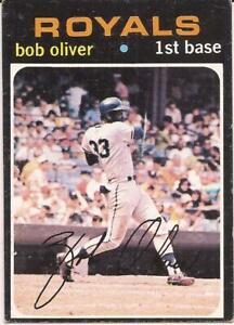 1971 Topps  # 470 - BOB OLIVER - ROYALS - SET BREAK (stk#2)