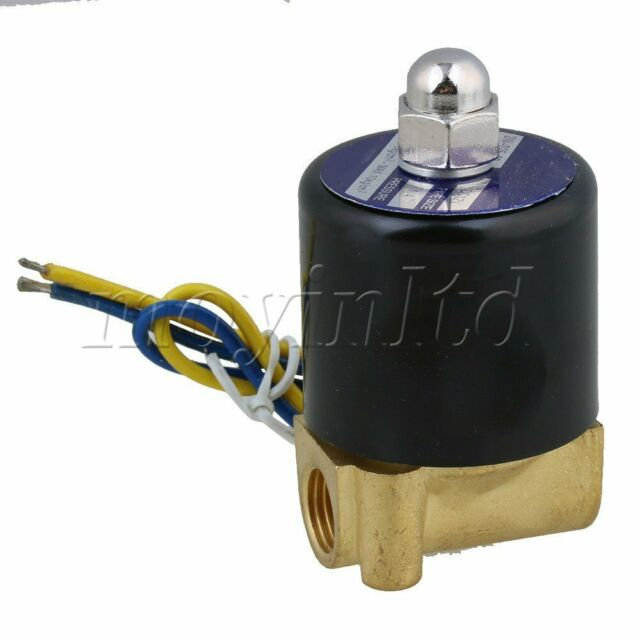 Brass DC 12V 1/4 Inch Electric Solenoid Valve for Air Water Oil