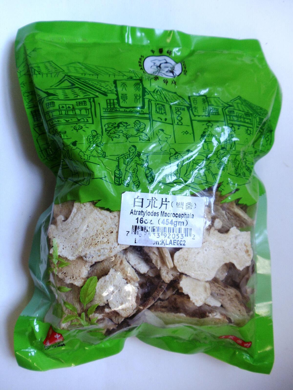 Bai Zhu - White Atractylodes Rhizome - 1Lb  Chinese Herbs 1