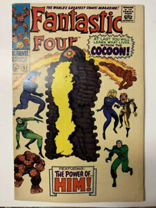 Fantastic-Four-67-Silver-Age-Marvel-Comic-Book-1st-Warlock-Cameo-FN