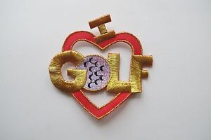 3394-I-LOVE-GOLF-RED-HEART-Embroidery-Iron-On-Applique-Patch