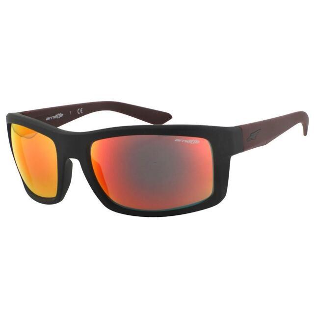 d3c90ebc43bb5 Arnette AN 4216-01 CORNER MAN Fuzzy Black Burgandy Red Mirror Mens  Sunglasses
