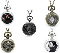 5pcs Necklace Chain Quartz Pocket Watches 84cm-86cm(33 1/8)