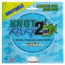 Knot 2 Kinky Nickel-Titanium Leader Wire 6lb 15ft Single Strand