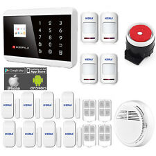 Wireless Wired LCD Touch Keypad GSM SMS Home House Alarm System Security Burglar