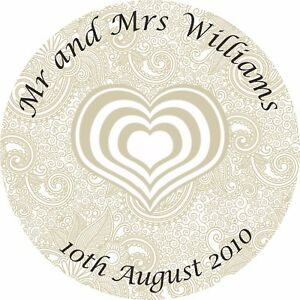 Image is loading Personalised-Wedding-Stickers-Seals-Labels-Mr-and-Mrs-