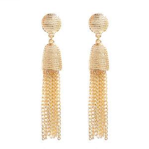 Women-039-s-Fashion-Elegant-Metal-chain-Long-Tassel-Earrings-Ear-Stud-Jewelry-Gift