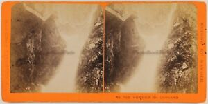 Suisse Gorges Del Durnant Foto Charnaux Stereo c1870 Vintage Albumina