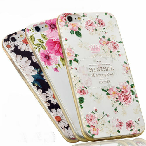 3D Rubber Fashion Gel Pattern Soft TPU Case Cover For Apple iPhone 6 6S Plus New