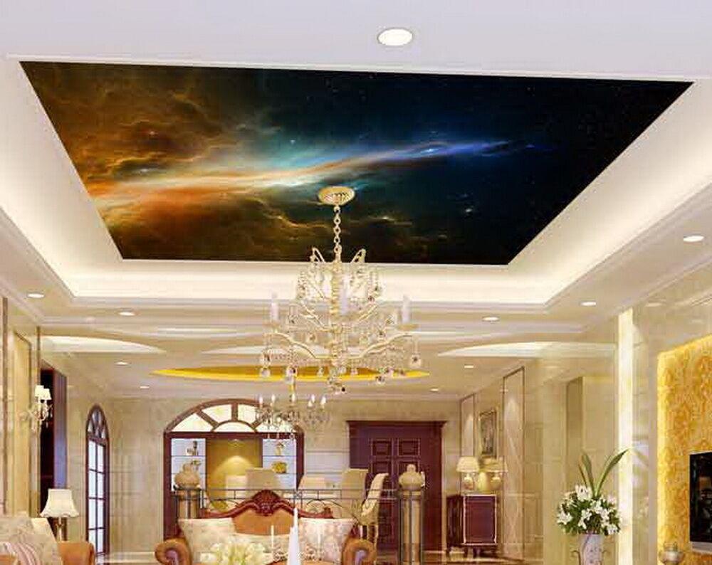3D Nebula Star Night Universe  Wallpaper Ceiling Decals Wall Art Print Geschäft
