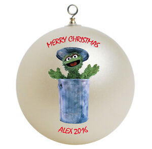Personalized-Sesame-Street-Oscar-the-Grouch-Christmas-Ornament-Gift-Add-Name