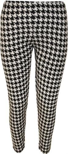 Ladies Stretch Full Length Printed Leggings Plus Size Ankle Pants Long Trousers