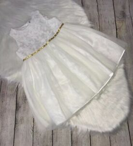 Great-Used-Cat-amp-Jack-White-Dress-Baptism-Wedding-Size-4t