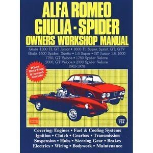 Alfa-Romeo-Giulia-Spider-Owners-Workshop-Manual-1962-1978-book-paper-car