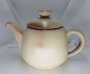 Vintage-Frankoma-Pottery-Teapot-Prairie-Desert-Gold-Full-Size-6T-Coffee-Tea-Pot