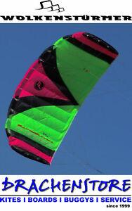PARAFLEX 2.3 TRAINERKITE  Kite Lenkdrachen Lenkmatte Wolkenstürmer Trainer Neon
