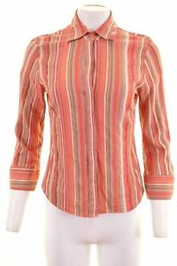 TRUSSARDI-Womens-Shirt-3-4-Sleeve-Size-14-Large-Multi-Striped-Cotton-MC81