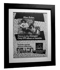 MARC BOLAN+Dance Midnight+POSTER+AD+RARE+ORIGINAL 1983+FRAMED+FAST GLOBAL SHIP