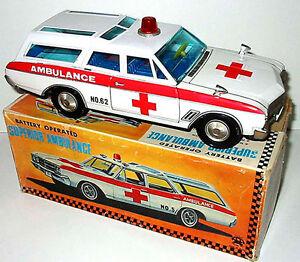 Asakusa Toys- Buick67 Ambulance / Japan 1960s Livraison Dans Le Monde Entier