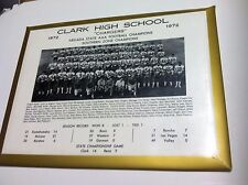 Vintage 1972 CLARK HIGH SCHOOL Las Vegas NV Chargers Football Championship Photo