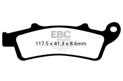 FIT APRILIA Scarabeo 250 ie 07/>10 EBC FRONT CARBON BRAKE PADS