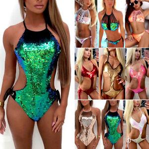 Sexy-Women-039-s-Swimwear-One-Piece-Swimsuit-Monokini-Push-Up-Padded-Bikini-Bathing
