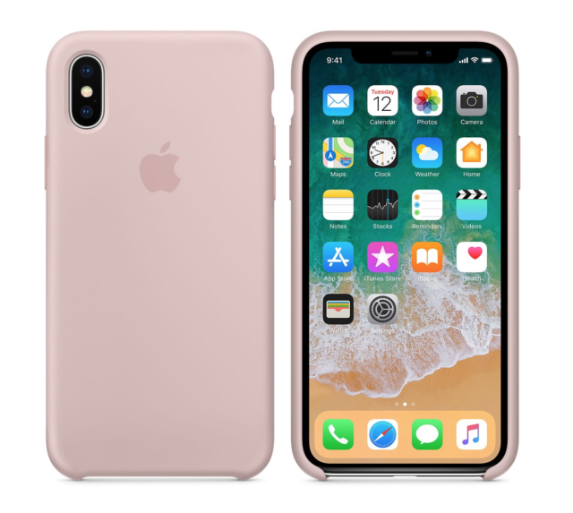 timeless design 4d570 7131a 2018 Pink Sand Genuine Official Original Apple Silicone Case iPhone X 10