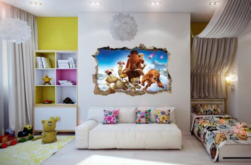 ICE AGE WALL STICKERS Hole in the wall Sticker Vinyl Decor Mural 62