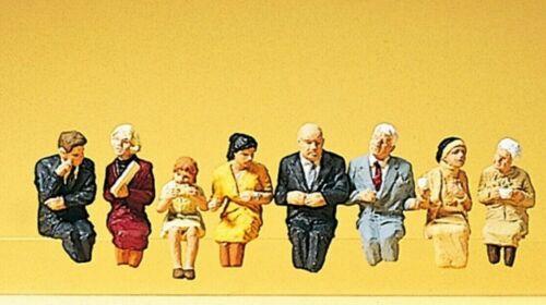 Passagers Assis pour Wagon-Restaurant peintes à la main NEUF Preiser 10299 h0 8 personnages