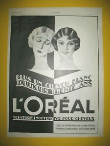 Advertising-Press-L-039-Oreal-Dye-More-One-Hair-White-Toujours-30-Years-1925
