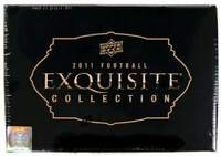 2011 Upper Deck Exquisite Football Factory Sealed Hobby Box - 5 Autographs A Box