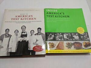 Lot-of-2-AMERICA-039-S-TEST-KITCHEN-Cookbooks-2003-2004-Hard-Cover-Dust-Jacket