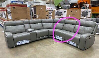 Costco Kuka Paisley Leather Sofa Single Non Reclining Section Ebay