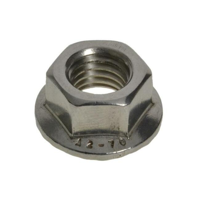 Pack Size 1 Stainless G304 Hex Flange M8 (8mm) Metric Serrated Nut