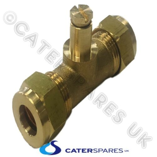 10MM INLINE TEST NIPPLE GAS PRESSURE TEST COMPRESSION COUPLING FOR COPPER PIPE