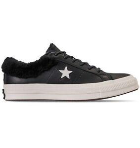 global Arte vacío  CONVERSE One Star Warmer Street Leather Low Top Sneakers Casual Black faux  Fur | eBay