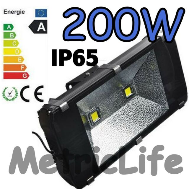 200W Outdoor Garden LED Flood light 2*100W LED White High Power Light Spotlights