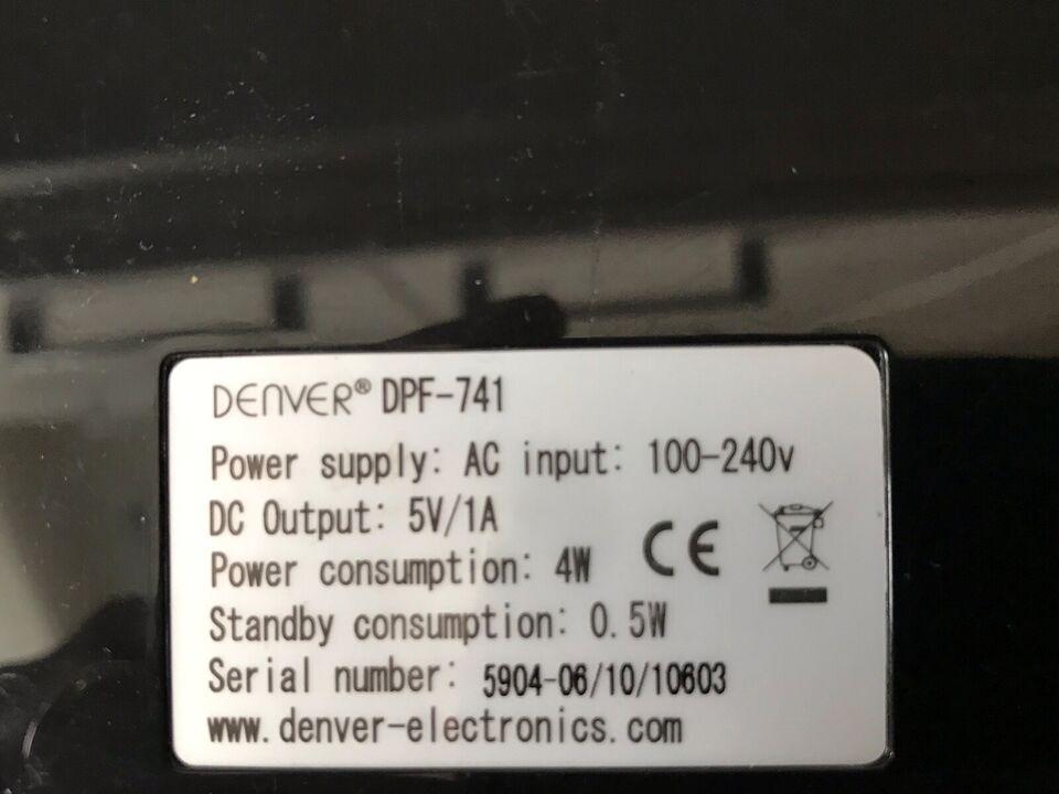 2 stk. Digital Fotoramme, Denver og Twin, Denver dpf-741 /