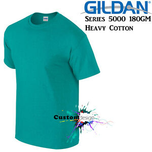 Gildan-T-SHIRT-Antique-Jade-Green-Basic-tee-S-M-L-XL-2XL-big-Men-039-s-Heavy-Cotton