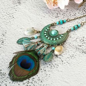 New-style-Tassel-Peacock-Feather-Bohemian-Long-Necklace-Shell-Sweater-Leather